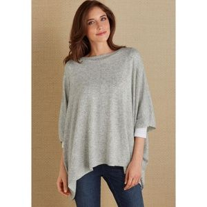 Soft Surroundings Jancier Poncho Wool Blend